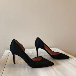 Halogen Stiletto Calf Fur Heels